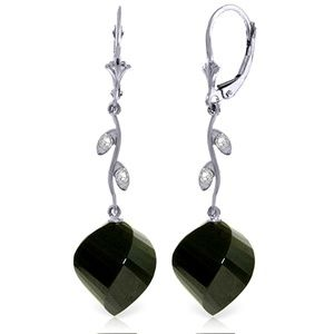 DIAMONDS & BRIOLETTE TWISTED BLACK SPINELS